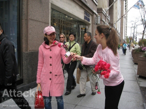 Modern-Bride-Street-Teams-Distributing-Fliers