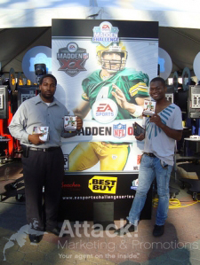 Madden-Challenge-Promotional-Staff-Distributing-Samples